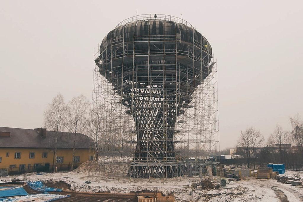 wieża ciśnień rusztowania telka